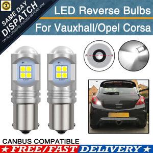 2X For Vauxhall Corsa C D E Reverse Light Tail Lamp LED Bulbs Xenon White Canbus