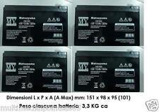 4 PZ BATTERIA RICARICABILE PIOMBO 12V 12Ah LP12-12 6-DZM-12 BICI ELETTRICHE  UPS