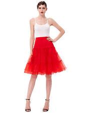 Women Ladies Retro Underskirt 50s Swing Vintage Petticoat Tutu Fancy Net Skirt .