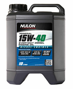 Nulon Premium Mineral Oil Everyday Diesel 15W-40 10L ED15W40-10