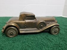 1930 Duesenberg Piggy Bank Coin Vintage Metal Car Rumble Seat Classic Banthrico