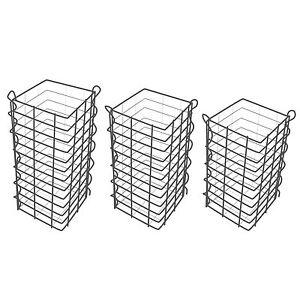 Gabionensäulen 3er Set eckig - 50+60+70 cm - Gabionen Steinkörbe - Gabionenkörbe