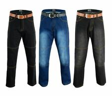 Motorbike Motorcycle Denim Trousers Jeans Pant With Armour  size 30 to 48 waist