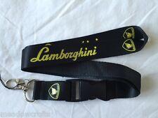Lamborghini Lanyard Neuf Noir-Porte-clés ID Holder Phone Strap