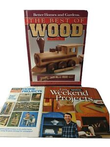 Lot Of 3 - Vintage The Best Of Wood & 2 Woodworking Booklets
