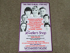 The JEWELLERS Shop All Star Cast WESTMINSTER Theatre Original Poster