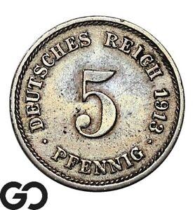 1913 Germany 5 Pfennig