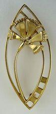 Escocés Ola Gorie 9 Ct Oro Amarillo Clavel Broche En Caja