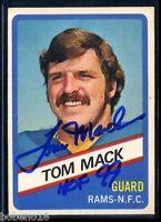 Tom Mack HOF signed autographed AUTO 1976 Topps Wonder Bread card #10