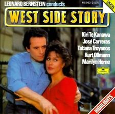 West Side Story Hts Carreras, Te Kanawa, Bernstein MUSIC CD