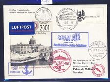 55684) SPAN AIR FF Friedrichshafen - Palma Spanien 1.4.01, Schiffspost PZD GAU