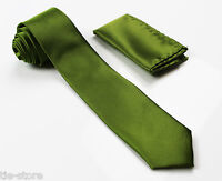 LIGHT GREEN MATCHING TIE SET 2 PIECE POCKET SQUARE HANKY & FORMAL SKINNY NECKTIE