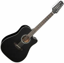 Takamine Gd30Ce-12Blk Dreadnought Acoustic Electric Guitar Gloss Black
