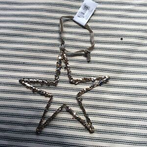 The White Company Glittery Star Hanging Decoration BNWT