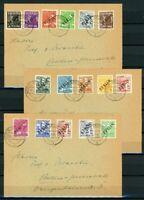 Berlin MiNr. 1-16 gestempelt auf 3 Briefen (I294