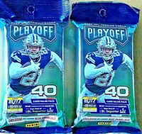 2020 Panini Playoff Football Fat Pack HOT LOT OF TWO (2) PACKS burrow tua prizm