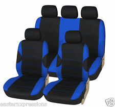 HD BLUE RACE RACING CAR SEAT COVER SET FOR HYUNDAI COUPE 02-09