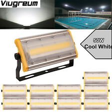 10X 50W LED Flood Light COB Chip Outdoor Waterproof Lamp Cool White AC110V IP66