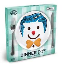 "Dinner Do's Girl Hairstyle 9"" Dinner Plate Set of 3 Design A Face For Kids Male"