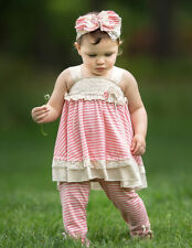 NWT Isobella and Chloe Size 18 Months Lace Detail Tunic, Pant & Headband 3PC Set