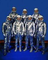New 8x10 NASA Photo: The Original Mercury Seven Astronauts in Space Suits, 1959