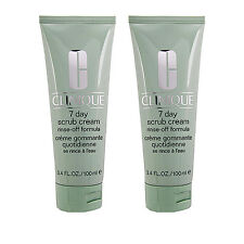 SET OF 2 Clinique 7 Day Scrub Cream (Rinse-Off Formula) 100ml x2= 200ml #2598_2