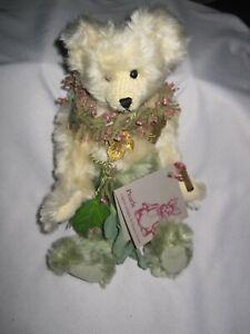 Mohair Teddy Bear Woodland Elf by Nancy Crowe Pearls Original Designs