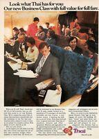 1979 Original Advertising 'American Thai Airways Company Aerial Business Class