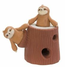 1 Stretchy sloth and tree trunk squishy sensory fidget play toy autism