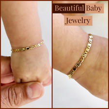 Newborn Baby/Childrens Boys/Girls Gold Filled Bracelet, Pulsera Para Bebe Niñas.