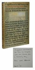 SIGNED Learning from Las Vegas ROBERT VENTURI & DENISE SCOTT BROWN First Edition