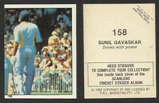 AUSTRALIA 1982 SCANLENS CRICKET STICKERS SERIES I SUNILGAVASKAR  (INDIA) # 158