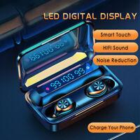TWS Earbuds Headphone 2000mah Power Bank LED Display Bluetooth Wireless Earphone