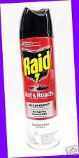 1 Raid ANT & ROACH Bug Defense System FRAGRANCE FREE Killer Spray KILLS ON CONTA