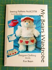 Sewing Pattern Toy Teddy Bear Clothes by My Bears Wardrobe fits build a bear