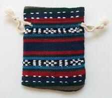 BOURSE A PENDULE EN COTON - MOTIF RAYURES - pochette sac poche sachet