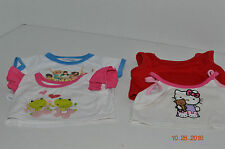 Build A Bear~Shirts~White Pink Frogs~Musical~White Pink Hello Kitty~Solid Red~E3