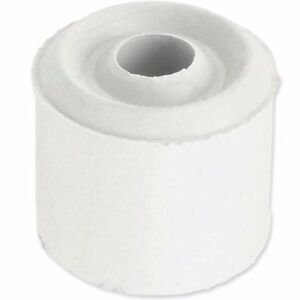 White Rubber Stopper Door Jam Block Home Office Use cab be Wall or Floor Mounted