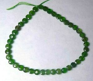 12 pieces Chrome Diopside beads