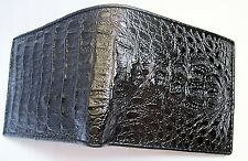 Mens wallet Crocodile Genuine Mulberry Black Crocodile Pattern Men's Leather