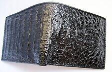 EMBOSS Resin crocodile Head skin leather bifold men black wallet jame bond 007