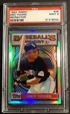 1993 ERIC YOUNG TOPPS FINEST REFRACTOR #48  PSA 9 ROCKIES POP 56  (309)