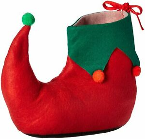 Deluxe Felt Santa's Helpers Elf Shoes Unisex Adult Christmas Costume Accessory
