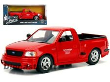 Fast & Furious Brian's 1999 Ford F-150 SVT Lightning Red by Jada 1:24 Model Car