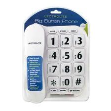 Pifco 44580 White Jumbo Button Telephone Damaged