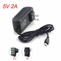 5V 2A AC DC Power Supply Adapter Charger Plug Micro USB for Raspberry Pi B+ B CU