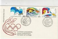 Republic of Cyprus 1980 Celebrating Moscow Olympics Stamps FDC Cover Ref 30413
