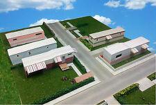N Scale Buildings - Mobile Home Trailer Park Homes Cardstock kit set TH3