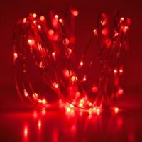 20/30/50 LED Battery Red Fairy String Lights Micro Rice Wire Copper Party