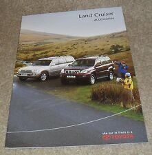 Toyota Land Cruiser Accessories Brochure 2004 - inc Amazon